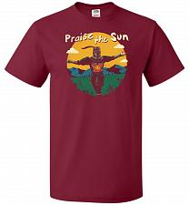 Buy Praise The Sun Unisex T-Shirt Pop Culture Graphic Tee (4XL/Cardinal) Humor Funny Nerd