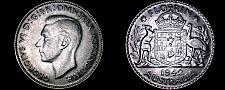 Buy 1942(m) Australian 1 Florin Silver World Coin - Australia - George VI
