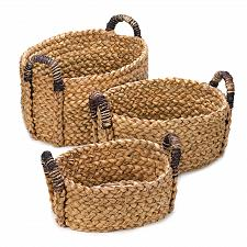 Buy *15231U - Straw Rounded Nesting Baskets Set of 3