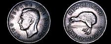 Buy 1948 New Zealand 1 Florin World Coin - George VI