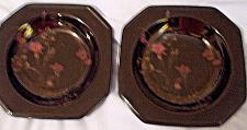 Buy Mikasa Ebony Meadows Salad Plates Set of 2 Japan 8 3/8 inches Discontinued