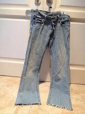 Buy Abercrombie & Fitch 4 Button Fly Distressed Frayed Hem Blue Jeans Size 30/32