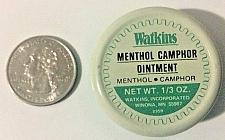 Buy JR Watkins 1/3 oz Travel Size Menthol Camphor Ointment New Old Stock~Vintage Tin