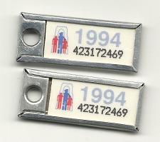 Buy War Amps Key Tag Ontario 1994 License Plate PAIR 423172469 Key Fob Tags