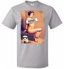 Buy Princess Leia Rebel Youth Unisex T-Shirt Pop Culture Graphic Tee (Youth L/Silver) Hum