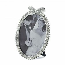 Buy *16947U - Beautiful Bow Rhinestone Oval Picture Frame Holds 5x7 Photo