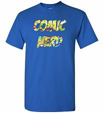 Buy Comic Nerd Unisex T-Shirt Pop Culture Graphic Tee (2XL/Royal) Humor Funny Nerdy Geeky