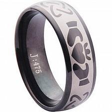 Buy coi Jewelry Black Tungsten Carbide Mo Anam Cara Ring