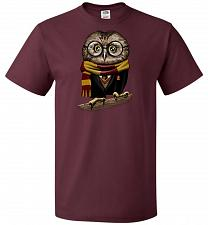 Buy Owly Potter Unisex T-Shirt Pop Culture Graphic Tee (L/Maroon) Humor Funny Nerdy Geeky