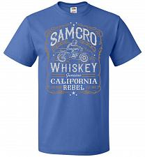 Buy Sons of Anarchy Samcro Whiskey Adult Unisex T-Shirt Pop Culture Graphic Tee (5XL/Roya