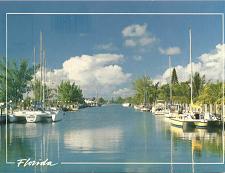 Buy WATERWAYS BOATS FLORIDA POSTCARD UNUSED USA UNITED STATES