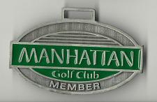 Buy Golf Bag Tag Golf Club Member Fob Manhattan Centerville Iowa Rare VTG