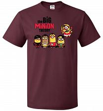 Buy The Big Minion Theory Unisex T-Shirt Pop Culture Graphic Tee (5XL/Maroon) Humor Funny