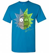 Buy Get Toxic Rick and Morty Unisex T-Shirt Pop Culture Graphic Tee (4XL/Sapphire) Humor