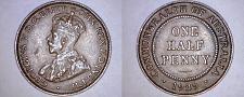 Buy 1929 Australian Half (1/2) Penny World Coin - Australia