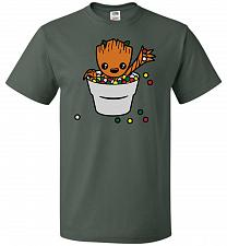 Buy A Pot Full Of Candies Unisex T-Shirt Pop Culture Graphic Tee (M/Forest Green) Humor F
