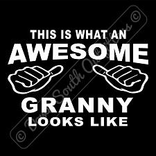 Buy This Is What An Awesome Granny Looks Like T-shirt (16 Tee Colors)