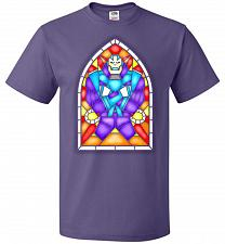 Buy Apocolypse Stained Glass Unisex T-Shirt Pop Culture Graphic Tee (S/Purple) Humor Funn
