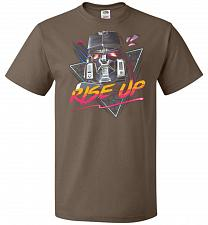Buy Rise Up Unisex T-Shirt Pop Culture Graphic Tee (6XL/Chocolate) Humor Funny Nerdy Geek