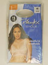 Buy BRA 40C PLAYTEX 18 HOUR Womens Solid Beige Wire Free Back Close Cushion Straps