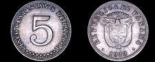 Buy 1929 Panamanian 5 Centesimos World Coin - Panama