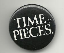 Buy Time Pieces Collectible Pinback Button Pin Vintage