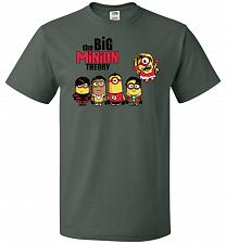 Buy The Big Minion Theory Unisex T-Shirt Pop Culture Graphic Tee (2XL/Forest Green) Humor