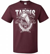Buy Anywhere and Everywhere Tardis Unisex T-Shirt Pop Culture Graphic Tee (4XL/Maroon) Hu