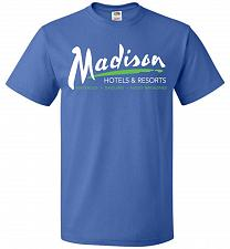 Buy Billy Madison Hotels & Resorts Adult Unisex T-Shirt Pop Culture Graphic Tee (5XL/Roya