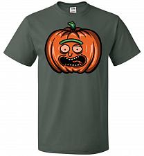 Buy Halloween Pumpkin Rick Adult Unisex T-Shirt Pop Culture Graphic Tee (XL/Forest Green)