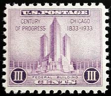 Buy 1933 3c Chicago, Federal Building Scott 729 Mint F/VF NH