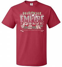 Buy Boardwalk Empire Unisex T-Shirt Pop Culture Graphic Tee (XL/True Red) Humor Funny Ner