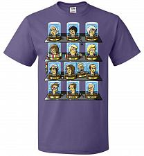 Buy Regen_O_Rama Unisex T-Shirt Pop Culture Graphic Tee (2XL/Purple) Humor Funny Nerdy Ge