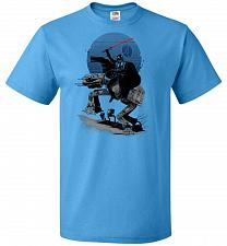 Buy Crossing The Dark Path Unisex T-Shirt Pop Culture Graphic Tee (L/Pacific Blue) Humor