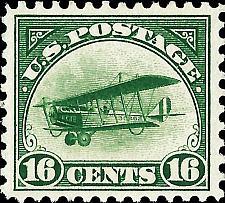 Buy 1918 16c Curtiss Jenny, Green Scott C2 Mint F/VF NH