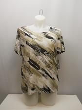 Buy Knit Top Womens PLUS SIZE 1X JM COLLECTION Etched Tribal Short Sleeves Scoop