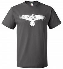 Buy Winter Is Here Unisex T-Shirt Pop Culture Graphic Tee (L/Charcoal Grey) Humor Funny N