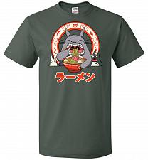 Buy The Neighbor's Ramen Unisex T-Shirt Pop Culture Graphic Tee (4XL/Forest Green) Humor