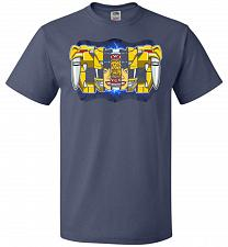 Buy Yellow Ranger Unisex T-Shirt Pop Culture Graphic Tee (L/Denim) Humor Funny Nerdy Geek