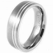 Buy coi Jewelry Platinum White Titanium Wedding Band Ring