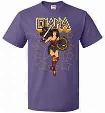 Buy Amazon Princess Unisex T-Shirt Pop Culture Graphic Tee (L/Purple) Humor Funny Nerdy G