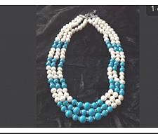 Buy turquoise colored beaded necklace