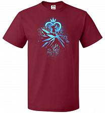 Buy Face of The Key Blade Unisex T-Shirt Pop Culture Graphic Tee (4XL/Cardinal) Humor Fun