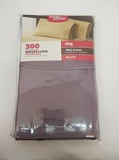 Buy KING SIZE Pillowcase Set 300 Thread Count Solid Plum Wrinkle Free BETTER HOMES