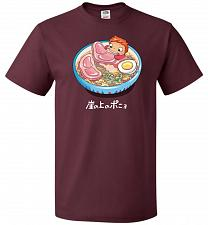 Buy Noodle Swim Unisex T-Shirt Pop Culture Graphic Tee (5XL/Maroon) Humor Funny Nerdy Gee