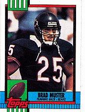 Buy Brad Muster #372 - Bears 1990 Topps Football Trading Card