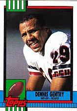 Buy Dennis Gentry #371 - Bears 1990 Topps Football Trading Card