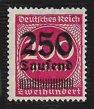 Buy German Hinged Scott #256 Catalog Value $.25