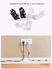 Buy Tidy USB Charger Cord Holder white Viscosity Cable Wire Organizer Cable drop Clip