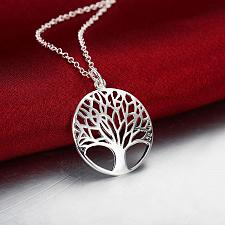 Buy silver plated tree necklace